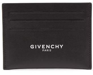 Givenchy Logo Print Leather Cardholder - Mens - Black