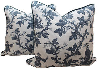 One Kings Lane Vintage Scalamandré Toile Pillows - Set of 2