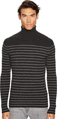 Vince Men's Bretton Stripe Cashmere Turtleneck Sweater
