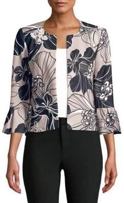 Calvin Klein Plus Bell Sleeve Printed Jacket