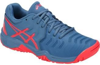 Asics GelResolution 7 Shoe Junior's Tennis Azure-Red Alert