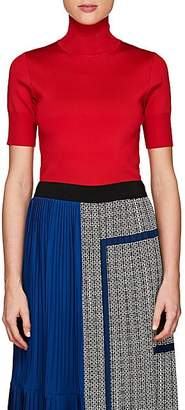 Givenchy Women's Compact Knit Short-Sleeve Turtleneck Top - Red
