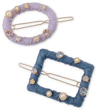 Oliver Bonas Embellished Fabric Hair Clips Pack of Two