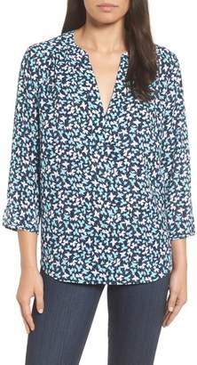 NYDJ Split Neck Floral Top