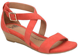 Sofft Leather Wedge Sandals - Innis