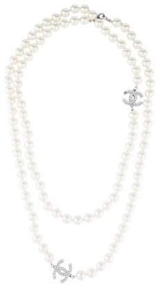 Chanel Faux Pearl CC Bead Strand