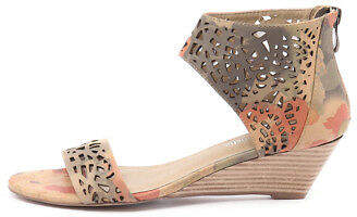 Django & Juliette New Marry Camel Multi Womens Shoes Dress Sandals Heeled