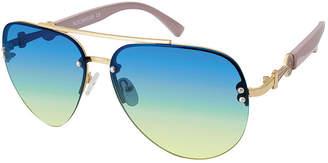 Rocawear Womens Half Frame Aviator UV Protection Sunglasses