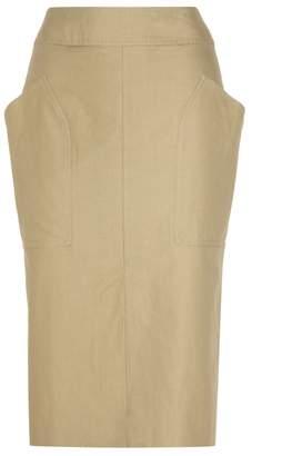 Isabel Marant Stanton cotton and linen skirt