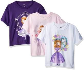 Disney Toddler Girls' Sofia the First 3-Pack Short Sleeve T-Shirt