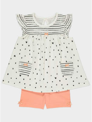 George Polka Dot Dress and Shorts Outfit