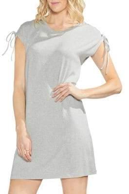 Vince Camuto Zen Bloom Lace-Up Shift Dress