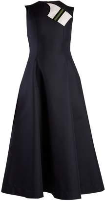 Calvin Klein Round-neck sleeveless cotton-blend midi dress