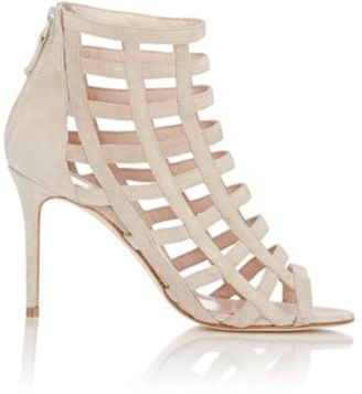 Barneys New York Women's Caged Sandals-NUDE $350 thestylecure.com