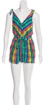 Mara Hoffman Color-block Sleeveless Romper
