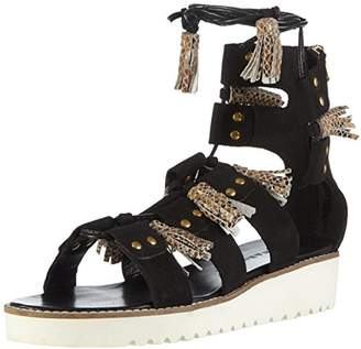 Melvin & Hamilton Women's Celia 20 Open Toe Sandals Black Size:
