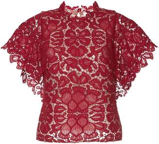 GINGER & SMART shortsleeved floral lace top Cheap Sale Classic Online Shopping tXim5