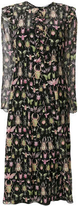 RED Valentino insects print dress