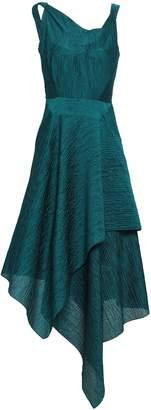 Roland Mouret Asymmetric Draped Cotton-blend Cloque Dress