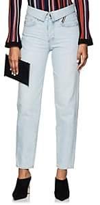 Atelier Jean Women's Flip Straight Jeans-Blue