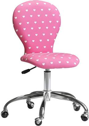 Pottery Barn Kids Swivel Round Upholstered Task Chair, Pink Faux-Fur, Standard UPS Delivery
