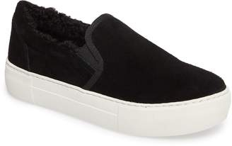 J/Slides Arpel Faux Fur Lined Slip-On Sneaker