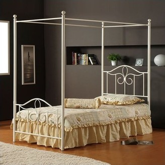 Hillsdale Furniture Westfield Twin Canopy Bed with Bedframe