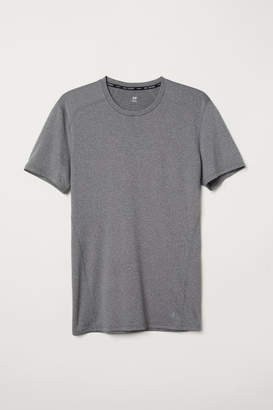 H&M Short-sleeved Sports Shirt - Gray