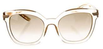 Bottega Veneta Translucent Tinted Sunglasses