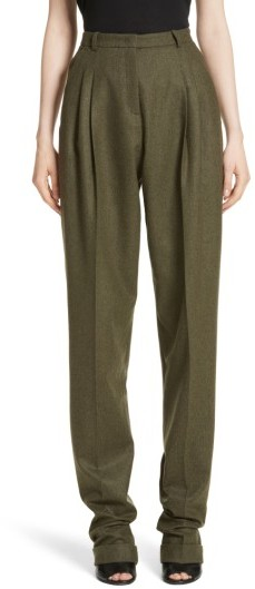 Women's Michael Kors Wool & Cashmere Pleated Flannel Trousers