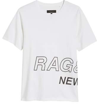 Rag & Bone Wrap Around Crewneck T-Shirt