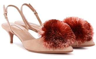Aquazzura Powder Puff 45 slingback pumps