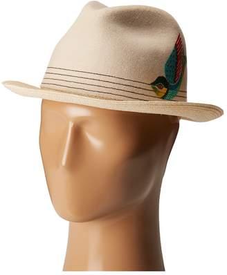 Carlos by Carlos Santana Men's Felt/Hemp Braid Fedora Hat