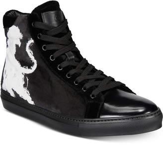 Roberto Cavalli Men's High-Top Velvet Sneakers Men's Shoes
