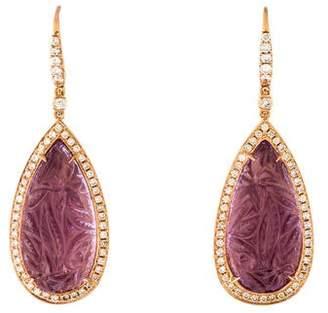 Rina Limor Fine Jewelry 18K Amethyst & Diamond Drop Earrings