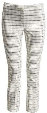 Theory Classic Skinny Check Ankle Pants