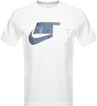 Nike NSW Swoosh Logo T Shirt White