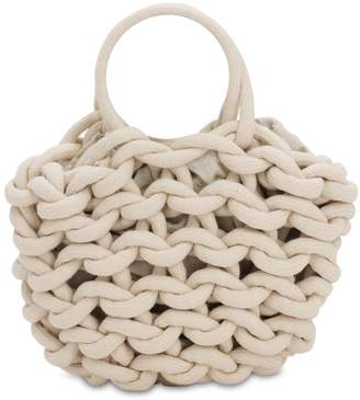 Alienina Julia Rope Bucket Cotton Top Handle Bag