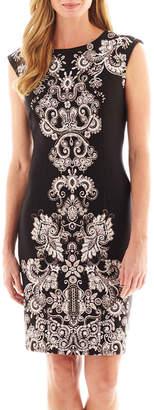 Liz Claiborne Cap-Sleeve Scuba Knit Dress