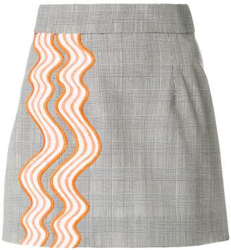 House of Holland contrast A-line skirt