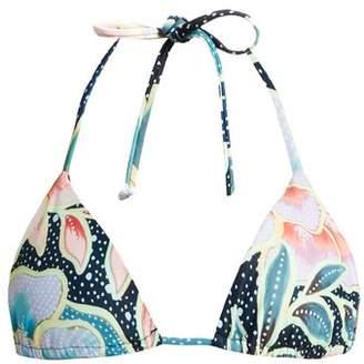 Mara Hoffman Arcadia Indigo Print Triangle Bikini Top - Womens - Blue Multi