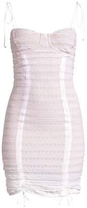 For Love & Lemons Fondant Shirred Mini Dress