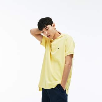 Lacoste (ラコステ) - リラックスフィット プチピケ フード ポロシャツ (半袖)