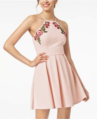 B. Darlin Juniors' Applique Fit & Flare Dress