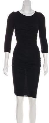 Dolce & Gabbana Wool Knit Midi Dress