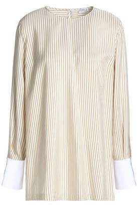 Brunello Cucinelli Striped Silk Crepe De Chine Blouse