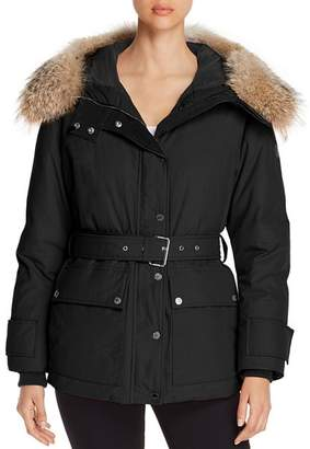 Belstaff Dawlby Fur Trim Mid Down Coat