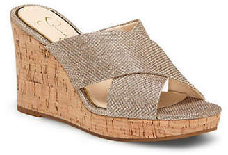 Jessica Simpson Sparkle Mesh Wedge Sandals
