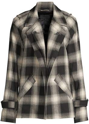 RtA Nikki Cotton Plaid Jacket
