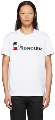 Moncler White Maglia Logo T-Shirt
